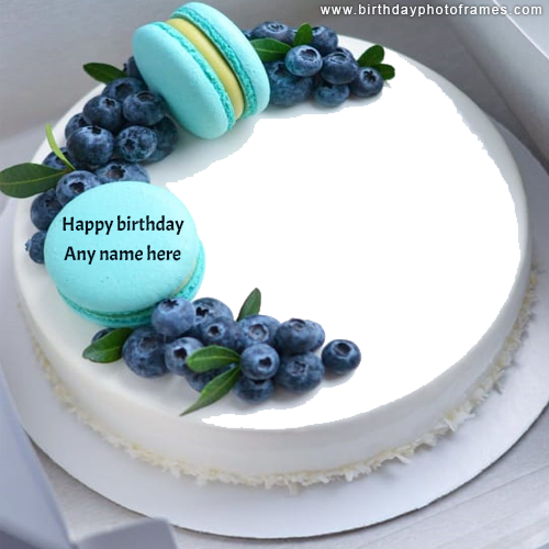 happy birthday cake with name and photo edit online