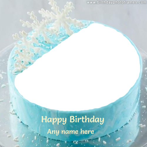 happy birthday cake with name and photo free download