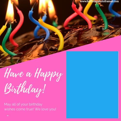 Awe Inspiring Happy Birthday Card With Name And Photo Editor Funny Birthday Cards Online Elaedamsfinfo