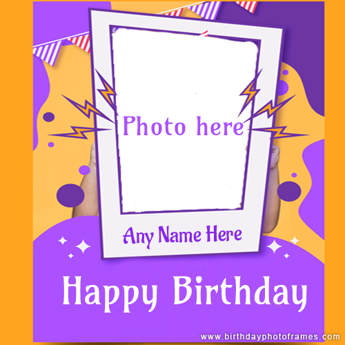 happy birthday card with name and photo free download