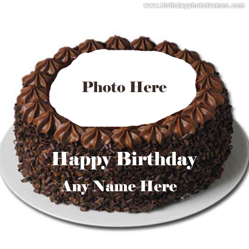 happy birthday chocolate cake with name and photo edit download
