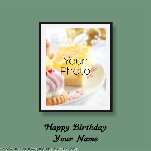 happy birthday photo frame with name