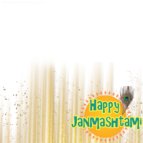 happy janmashtami 2019 greeting card with photo