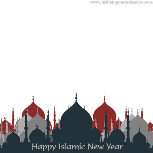 happy muharram Islamic New Year photoframes edit