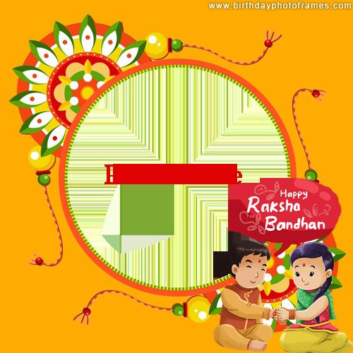 happy raksha bandhan photo frame download