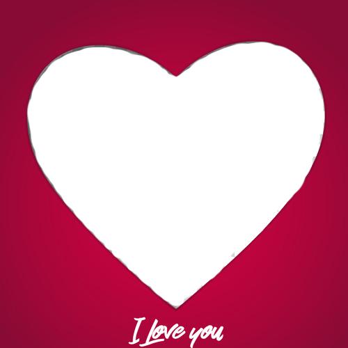 i love you heart photo frame free edit