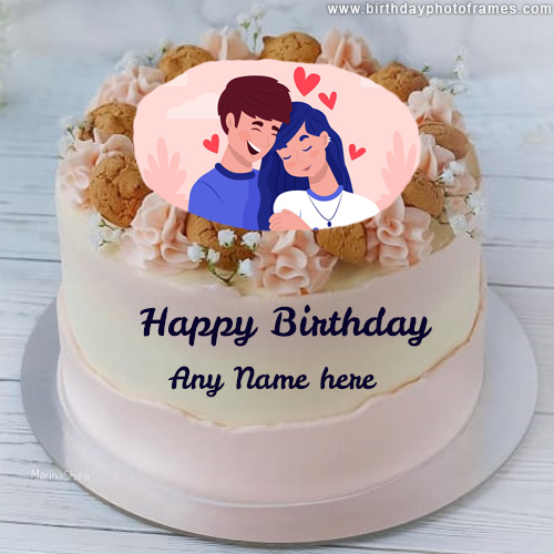 love birthday cake with name and photo edit