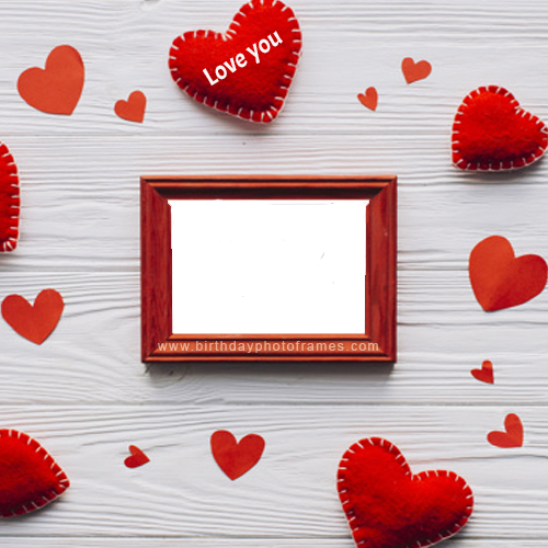 love heart photo frame free download