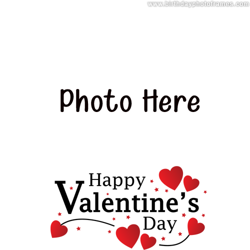 lovely valentine day wish card with photo download