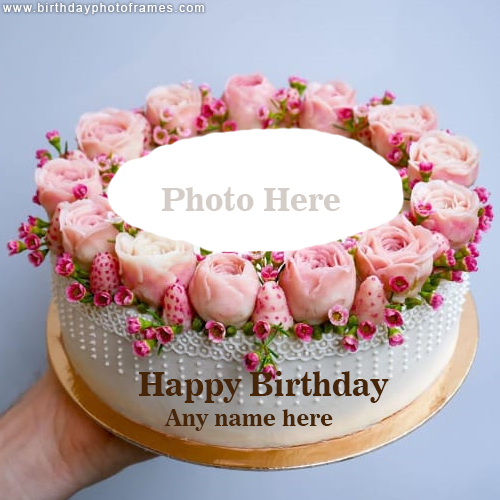 online happy birthday cake with name and photo free download