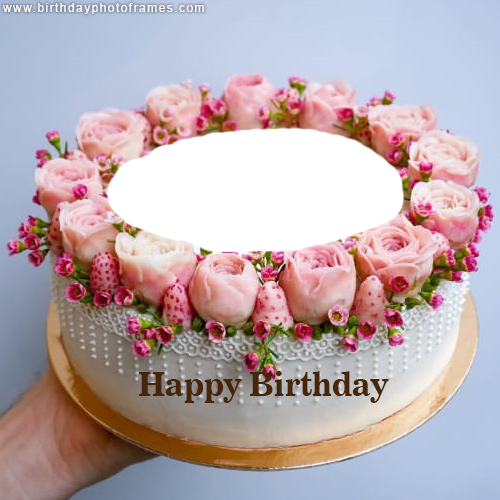 Wondrous Online Happy Birthday Cake With Name And Photo Free Download Funny Birthday Cards Online Elaedamsfinfo