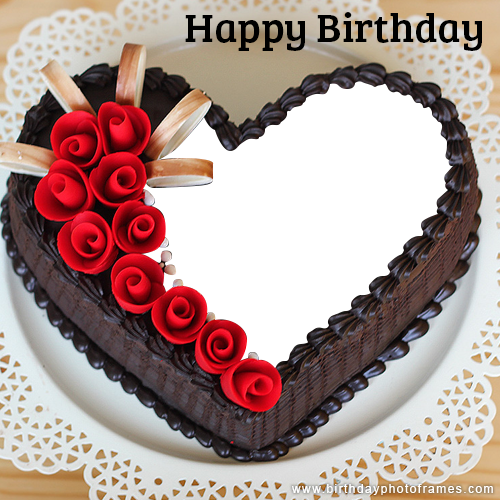 Astonishing Romantic And Lovely Birthday Cake With Name And Photo Edit Funny Birthday Cards Online Aeocydamsfinfo