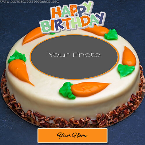 write name on birthday cake with photo