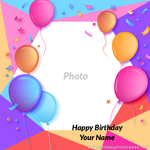 Make Your Own Birthday Card With Photo For Free