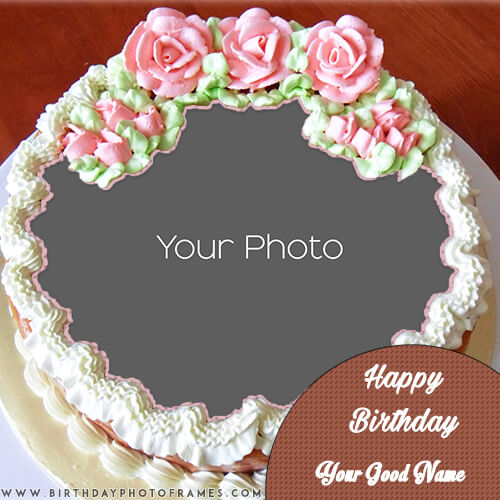 Fantastic Birthday Cake With Name And Photo Editor Personalised Birthday Cards Veneteletsinfo