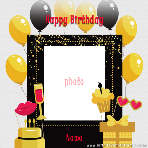 Miraculous Birthday Cake With Name And Photo Editor Online Funny Birthday Cards Online Elaedamsfinfo