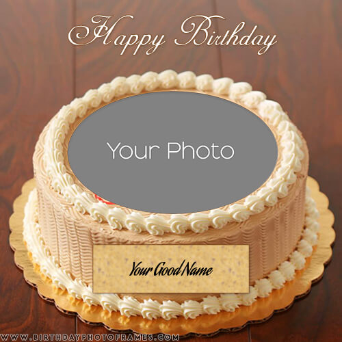 Fine Happy Birthday Cake With Name And Photo Funny Birthday Cards Online Overcheapnameinfo
